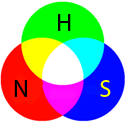 Nitrogen=red Hydrogen=Green Sulfur=Blue